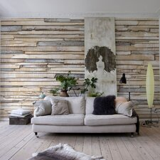 Komar White Washed Wall Mural