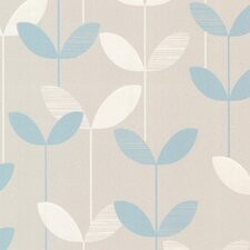 """Elements Ernst Linear Leaf 33' x 20.5"""" Floral Embossed Wallpaper"""