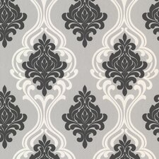 "Elements Indiana 33' x 20.5"" Damask Embossed Wallpaper"