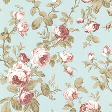 "Claremont Wilda Roselle Trail 33' x 20.5"" Floral Embossed Wallpaper"