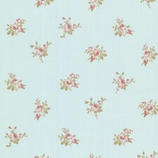 "Claremont Petra Roselle Toss 33' x 20.5"" Floral Embossed Wallpaper"