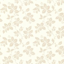 """Claremont Phoebe 33' x 20.5"""" Floral Embossed Wallpaper"""