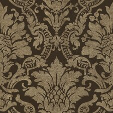 "Artistic Illusion Cynthia 33' x 20.5"" Damask Embossed Wallpaper"