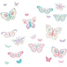WallPops Flutterby Butterflies Applique Wall Decal Kit