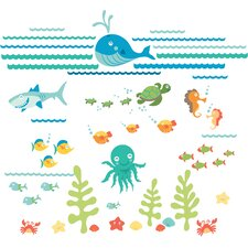 WallPops Under The Sea Applique Wall Decal Kit