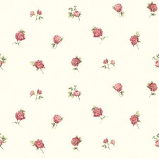 "Cottage Garden 33' x 20.5"" Sandra Floral Embossed Wallpaper"