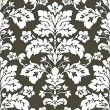 "Christel 33' x 20.5"" Camila Modern Damask Embossed Wallpaper"