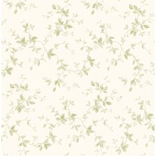 """Pure Country 33' x 20.5"""" Sandra Leaf Ivy Floral Embossed Wallpaper"""