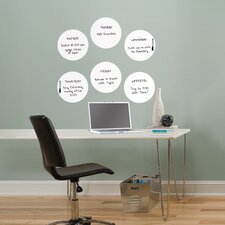 WallPops Ghost Dry Erase Dots Whiteboard Wall Decal Set