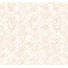 """Pure Country 33' x 20.5"""" Evie Stencil Damask Embossed Wallpaper"""