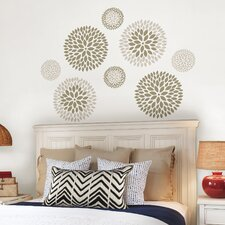WallPops 8 Piece Chrysanthemum Large Wall Decal Set