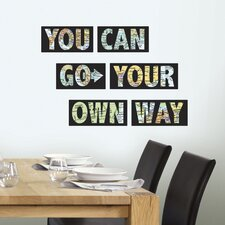WallPops 6 Piece Go Your Own Way Wall Decal Set