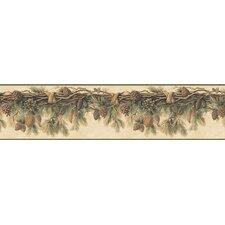 "Echo Lake Lodge Wyola Pinecone Forest 15' x 9"" Border Wallpaper"