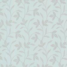 """Bath Bath Bath Volume IV Cynthia Tonal Leaf Trail 33' x 20.5"""" Wallpaper"""