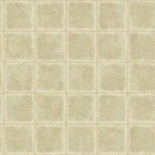"Meadowlark Leaf Tile Texture 33' x 20.5"" Wallpaper"