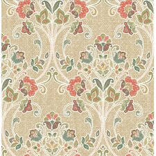 "Kismet Willow Nouveau Floral 33' x 20.5"" Wallpaper"