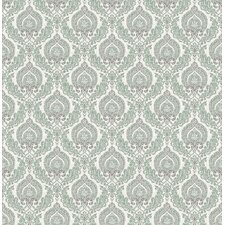 "Ami 33' x 20.5"" Lulu Damask Wallpaper"