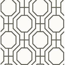 "Symetrie 33' x 20.5"" Circuit Modern Ironwork Wallpaper"