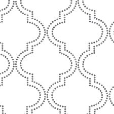 "Symetrie 33' x 20.5"" Tetra Quatrefoil Wallpaper"