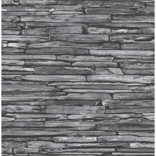 """Stacked Slate Industrial 2' x 20.5"""" Panel Wallpaper"""