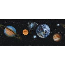 Kidding World Planets Border Wallpaper