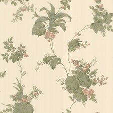 """La Belle Maison 33' x 20.5"""" Frond Leaf Floral Embossed Wallpaper"""
