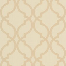 "Decadence Harira Moroccan Trellis 33' x 20.5"" Geometric Embossed Wallpaper"