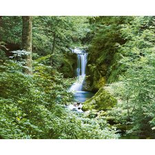 Ideal Decor Waterfall in Spring Large Wall Mural