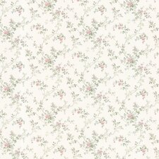 "Dollhouse Janine Climbing 33' x 20.5"" Floral and Botanical Embossed Wallpaper"