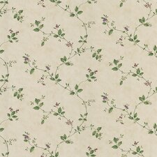 """Dollhouse Veronica 33' x 20.5"""" Floral and Botanical Embossed Wallpaper"""