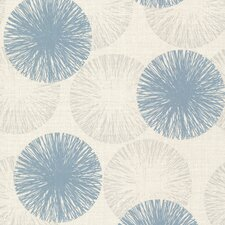"""Naturale Cayman Contemporary Raffia 33' x 20.5"""" Floral and Botanical Embossed Wallpaper"""