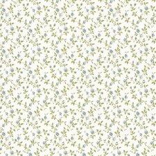 "Dollhouse Izabella Rosebud 33' x 20.5"" Floral and Botanical Embossed Wallpaper"