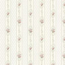 """Dollhouse Jaynie Trellis 33' x 20.5"""" Floral and Botanical Embossed Wallpaper"""