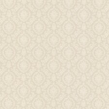"Dollhouse Bella 33' x 20.5"" Damask Embossed Wallpaper"
