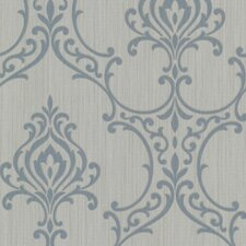 "Buckingham Scott Nouveau 33' x 20.5"" Damask Embossed Wallpaper"