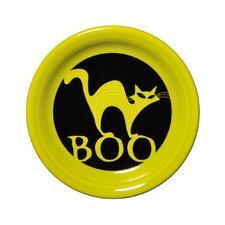 """6.63"""" Halloween Boo Cat Appetizer Plate"""