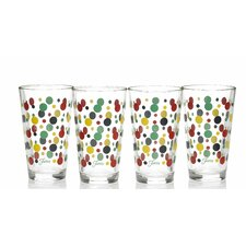 Dot 16 Oz. Tapered Cooler Glass (Set of 4)