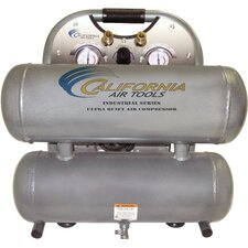 4.6 Gallon Ultra Quiet and Oil-Free 1 HP Aluminum Twin Tank Air Compressor