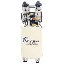 10 Gallon Ultra Quiet and Oil-Free 2 HP Steel Tank Air Compressor with Air Drying System and Auto Drain