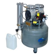 9 Gallon 1.0 Hp Ultra Quiet and Oil-Free Air Compressor with Dryer and Aftercooler