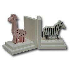Giraffe / Zebra Book Ends (Set of 2)