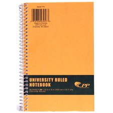 """7.75"""" x 5"""" College Ruled Wirebound Notebook"""