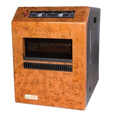 5,115 BTU Portable Electric Infrared Cabinet Heater with Remote Control