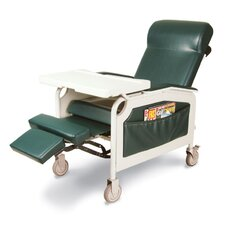 Three Position Convalescent Recliner with Tray