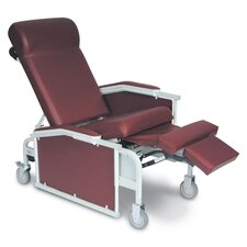 Three Position Drop Arm Convalescent Recliner with Tray