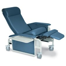 Drop Arm Care Recliner with Steel Casters