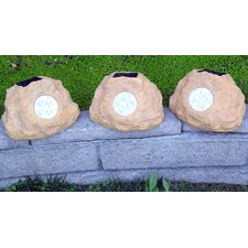 Solar Power Jumbo Rock Spot Light (Set of 3)