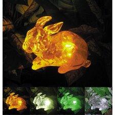 Solar Rabbit with Color Change Lighting