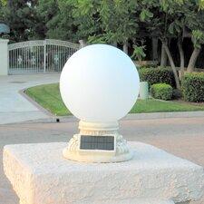 Solar Power Frosted Glass Globe Entrance Light