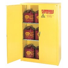 "22.25"" H x 17.5"" W x 18"" D Flammable Liquid 4 Gallon Safety Storage Cabinetin Yellow"